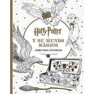 HARRY POTTER Y SU MUNDO MAGICO (LIBRO PARA COLOREAR)