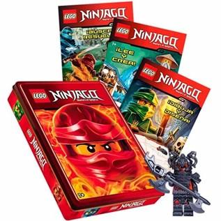 LEGO NINJAGO: PAQUETE LIBROS ACTIVIDADES + CAJA METALICA
