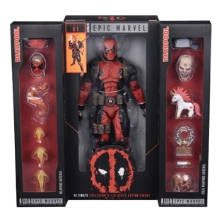 DEADPOOL MERC WITH A MOUTH ULTIMATE EPIC MARVEL COLLECTOR S FIGURA 1/4 NECA