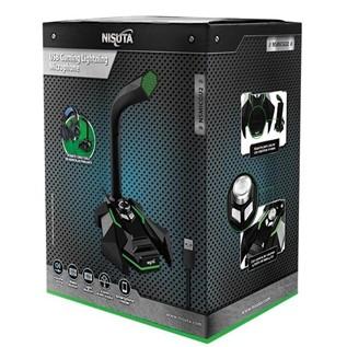 MICROFONO MOD. NSMICGU2 USB GAMING C/ SALIDA AUR LED BASS Y CONTROL DE VOLUMEN